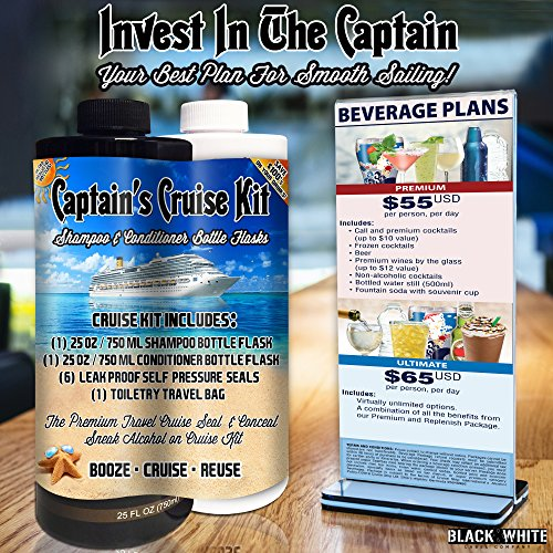 Captains-Cruise-Kit-With-Shampoo-Conditioner-Bottle-Flasks-2x25oz-Premium-Sneak-Alcohol-On-Cruise-Set-Rum-Runner-Take-Liquor-Booze-Anywhere-Containers
