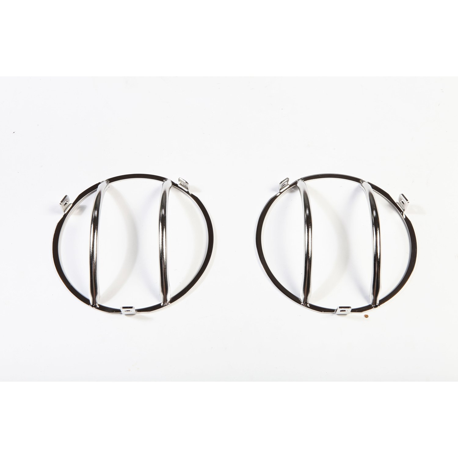 Rugged Ridge 11142.01 Stainless Front Euro Head Light Guard - Pair