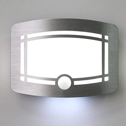 Bibaduo Aplique LED, Detector de Movimiento de luz Interior Aplique inalámbrico Aplique Mural de Pared