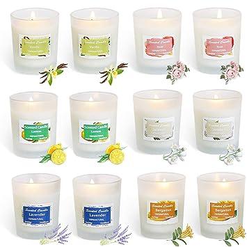 Amazon.com: Mobestech - Juego de 12 velas aromáticas para ...