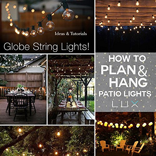 -[ Outdoor String Lights, G40 Outdoor String Light Bulbs Listed, Waterproof String Lights, For Indo