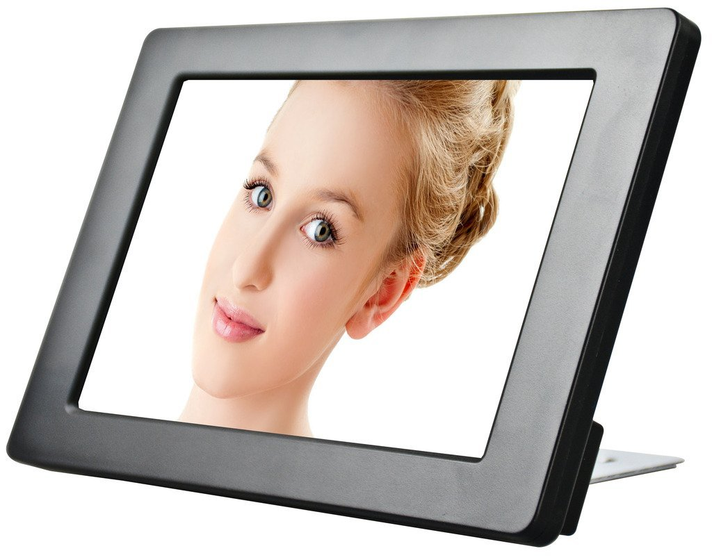KYAL 7'' HD LCD Advertising Screen with Motion Sensor to Display Advertising Product Promotion, Restaurant Menu, Events - Compatible with SD Card or USB 2.0, Remote Control Included
