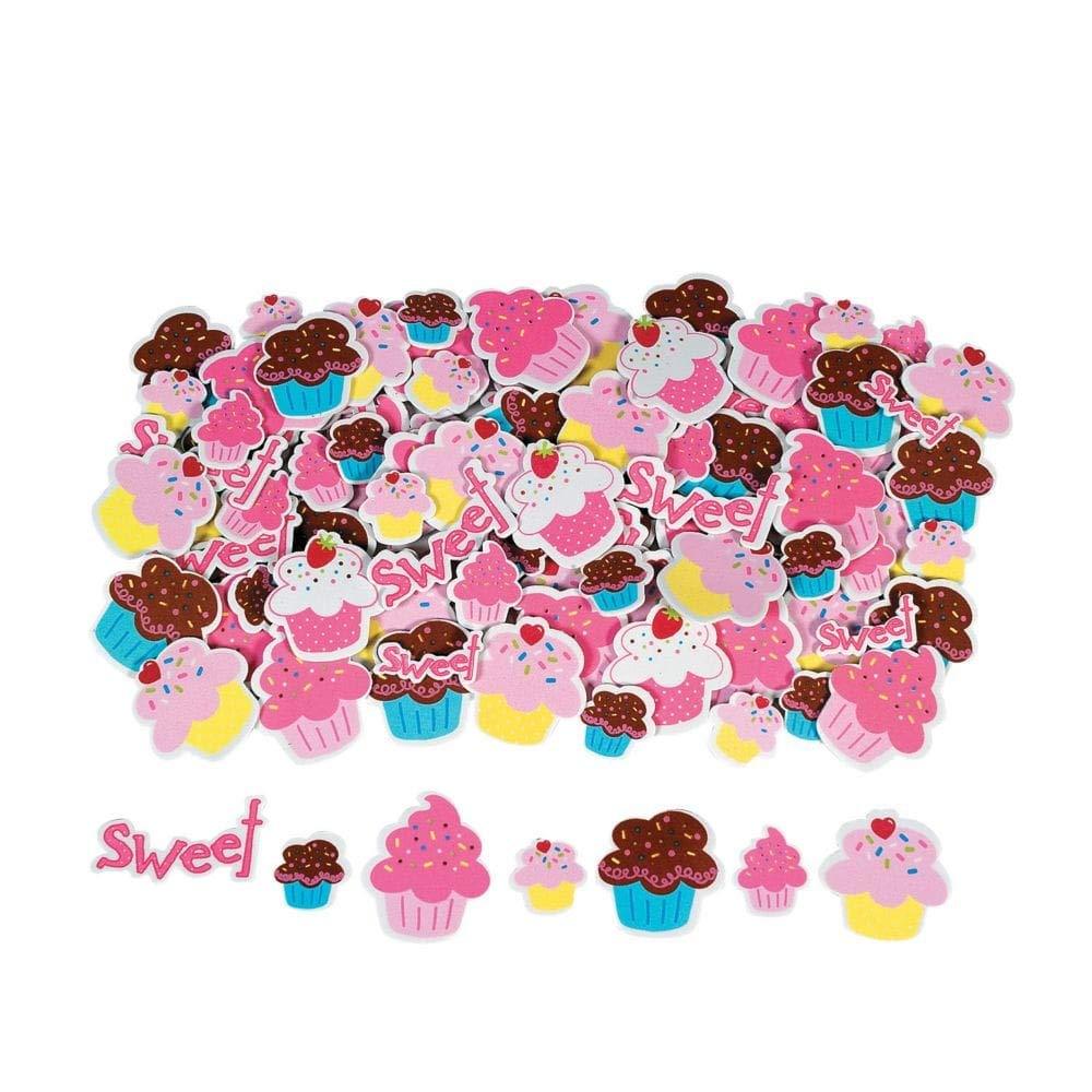500 pcs Cupcake Self-Adhesive Foam Shape Stickers