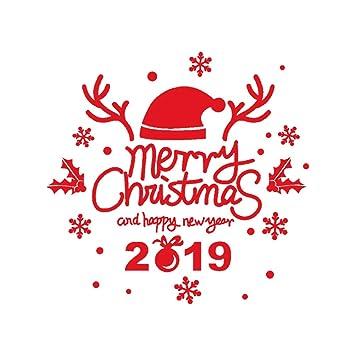 Frohe Weihnachten Und Schönes Neues Jahr.Recoproqfje 2019 Frohes Neues Jahr Wandsticker Frohe Weihnachten