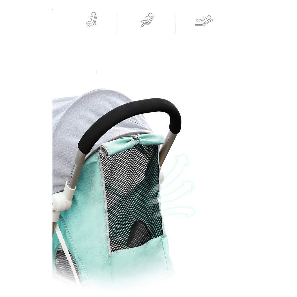compacto puede reclinarse ultra liviano puede estar e cochecito infantil el cochecito puede sentarse reclinable port/átil ligero WYNZYYESTC Cochecito para beb/és mini bolsillo plegable paraguas