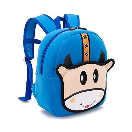 086c72ef5a7 JJSSGJBB Student backpack 3D Cartoon Little Monster Children School Bags  Waterproof Neoprene Fabric Toddler Boys Girls