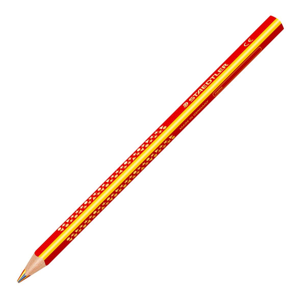 1274 KP50 Sonstige Mal- & Zeichenmaterialien für Kinder STAEDTLER Farbstift Noris Club 4 mm gelb rot blau Köcher mit 50 Bastel- & Kreativ-Bedarf für Kinder