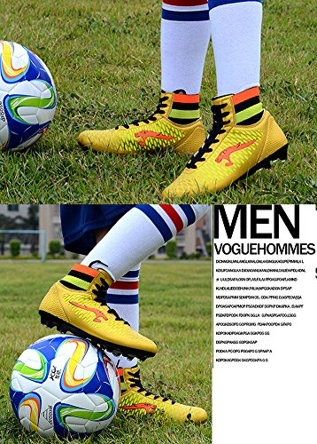 No.66 Ville Performance Haut Haut Firm-sol Ag Tf Football Chaussures De Sport Chaussures De Football Or (ag Cleat)