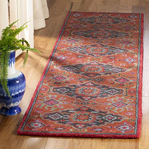 (Safavieh HG419P-28 Heritage Collection Rust and Multi Premium Wool Runner 2'3