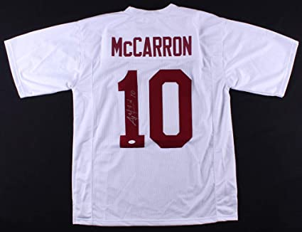 32904656f Image Unavailable. Image not available for. Color  Aj Mccarron Autographed  Signed Alabama Crimson Tide Jersey - JSA Certified
