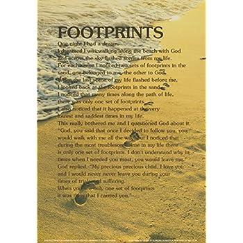 Amazon.com: Footprints Poem Poster 11.5x16.5: Posters & Prints