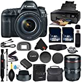 Canon EOS 5D Mark IV DSLR Camera with 24-105mm f/4L II Lens International Version (No Warranty) + Epson SureColor P600 Inkjet Printer + 16GB & 32GB SDHC Class 10 Memory Card + Carrying Case Bundle