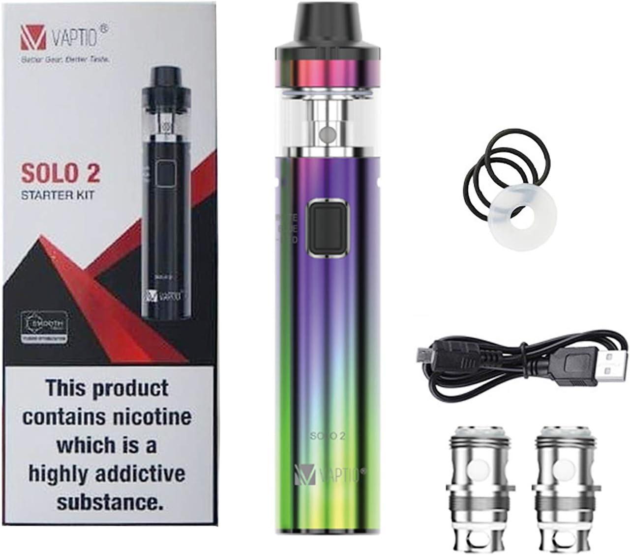 Vape Pen Starter Kit Vaptio Solo 2 KIT con 3000mAh Batería 2.0ml Mesh Core Todo en uno Estilo Vaporizador de cigarrillo electrónico No E Liquid No Nicotine (Camaleón)