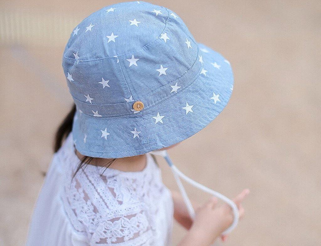 31626f68ed2 EOZY Chapeau de Soleil Plage Anti-UV Solaire pour Bébé Enfant Outdoor Coton