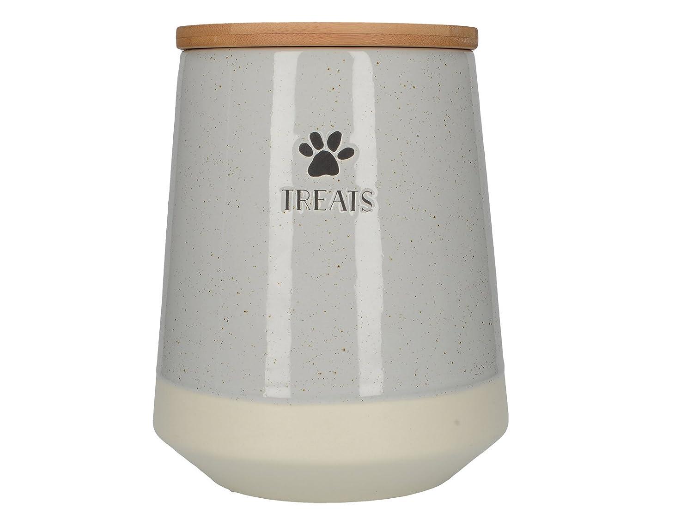 Creative Tops Tails & Treats Speckled Grey Ceramic Treats Lidded Jar – Grey/Multi 5213746