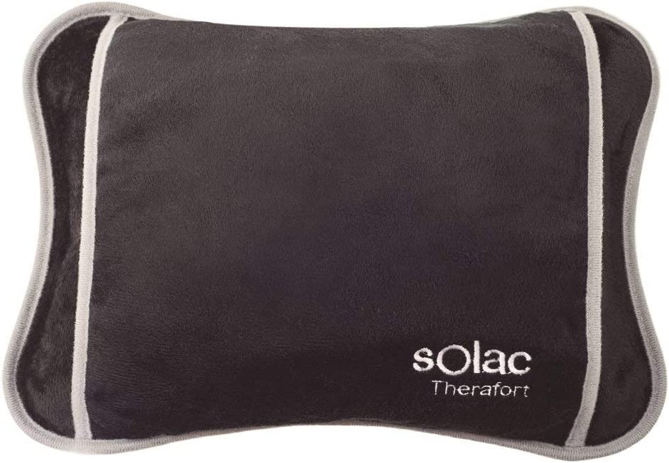 Solac CB8981 - Bolsa de agua térmica Caldea, 360 W, ergonómica, 120 minutos de autonomía, conector extraíble, tacto suave, tejido transpirable, color azul oscuro
