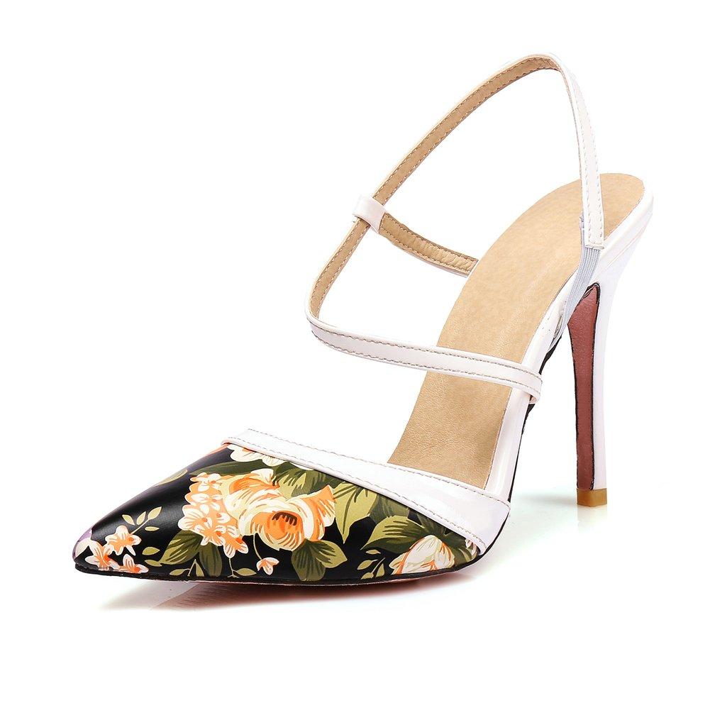 Women's Pointed Pumps Sexy High Heel Sandals Lady Strap Dress 10 Stiletto Fashion Wedding Shoes B07F68S8QW 10 Dress B(M) US|Black 24a822