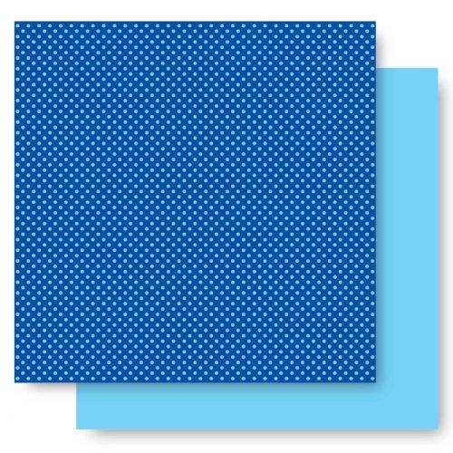 Basic Glitter Paper (Best Creation 12-Inch by 12-Inch Basic Glitter Paper, Dark Blue Dot)