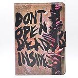 Dont open dead Inside Hand Fun Cool Zombie Design Leather Flip Stand Case Cover For Apple ipad mini 1, ipad mini 2 Retina ,ipad mini 3