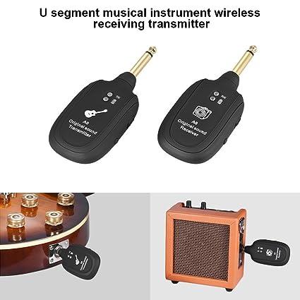 Dastrues Receptor del transmisor inalámbrico de la Guitarra de la frecuencia ultraelevada Sistema 730mhz Gama 50M