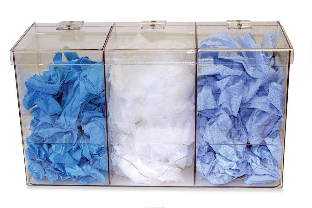 Clearform ML8688 Clear Acrylic Bulk Dispenser, Triple by Clearform (Image #1)