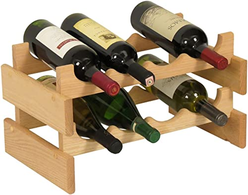 Wooden Mallet 8 Bottle Dakota Wine Rack