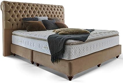 Cama con somier cama 160 x 200 140 x 200 200 x 200 beige ...