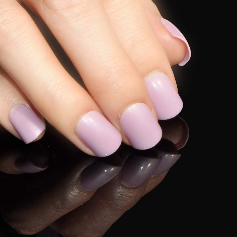 Amazon Com Fashion Short Nude Pink Nail Tips False Nails