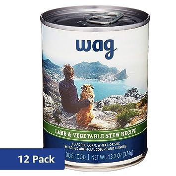Amazon.com: Amazon Brand - Wag Wet Dog Food Stew Receta 13.2 ...