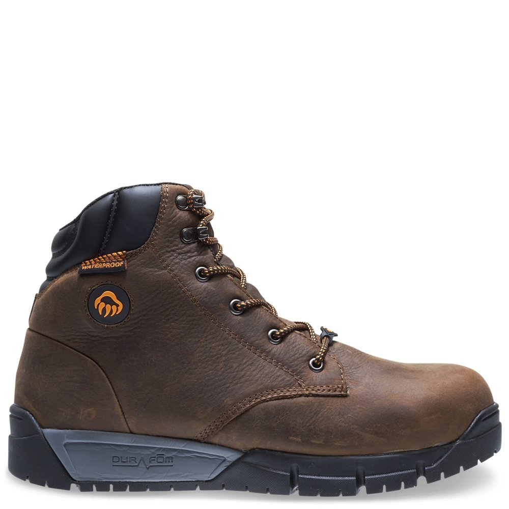 Wolverine Men's Mauler LX Composite Toe Waterproof Work Boot, Brown, 8.5 3E US