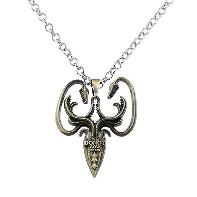 793f7473d514 Lureme Juego de Tronos Casa Greyjoy de Pyke Colgante Traje Collar-Bronce  Antiguo (nl005385-1)  Amazon.es  Joyería