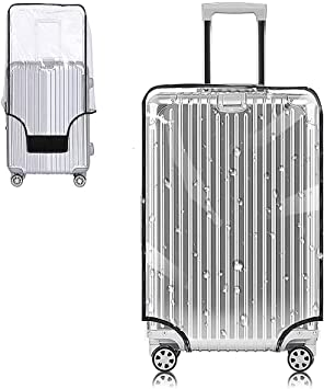 Q-YR Suitcase Cover High Elastic Anti-Theft Polyester Wear-Resistant Trolley Box Cover Water Wash with Strap