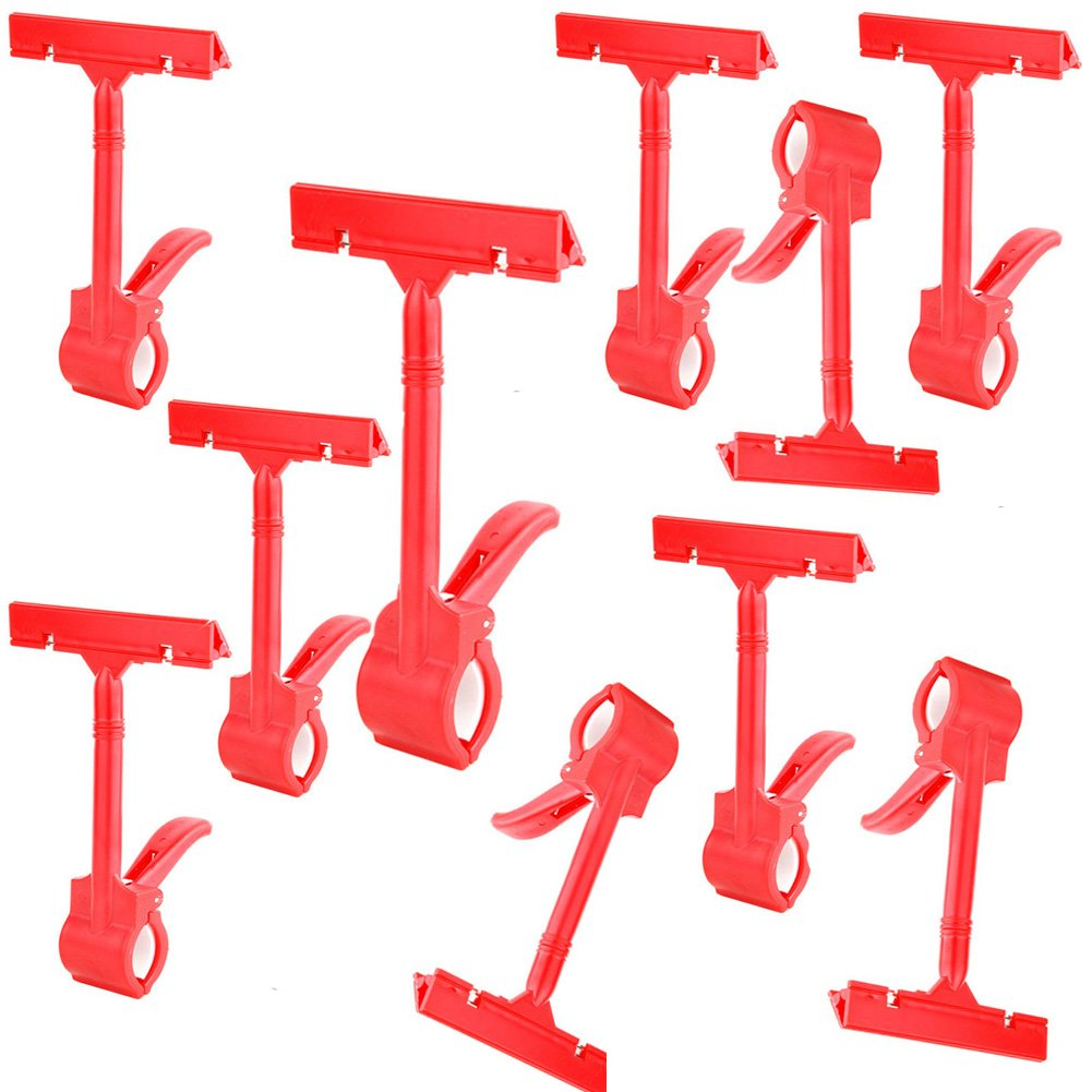 Cucumis Supermarket Commodity Price Explosion Posted Price Tag Clip 10 Pcs (Red)