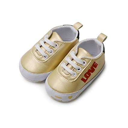 90caceebc73 Baby Sneakers Girls,Amiley Infant Toddler Baby Girls Boys Leather Letter  Outdoor Lightweight Soft Sole