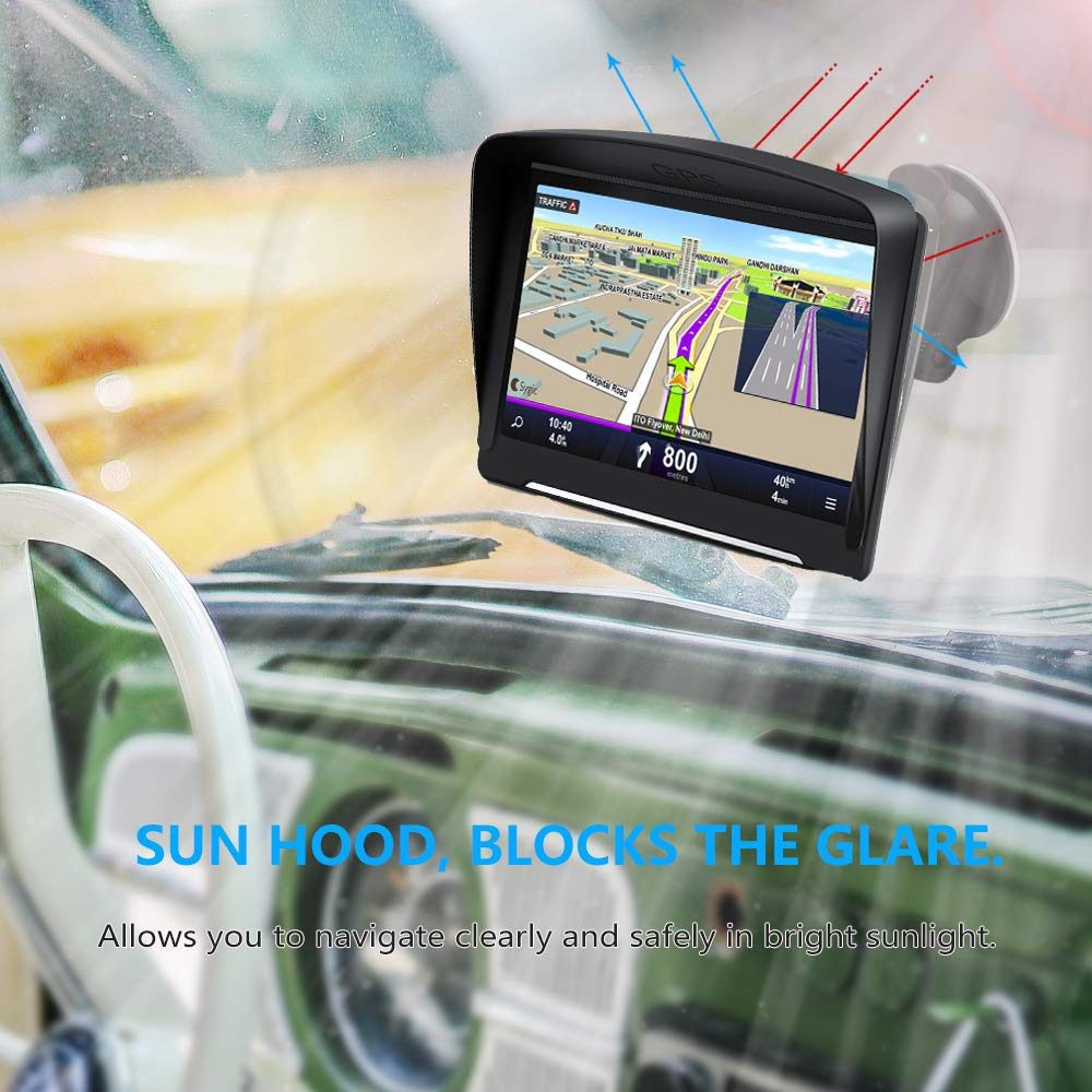GPS Navigation,7 Inches Touch Screen GPS Navigator 8GB Memory 3D Map Multil Languages Spoken Direct Driver Alerts for Car Vehicle by Alaca