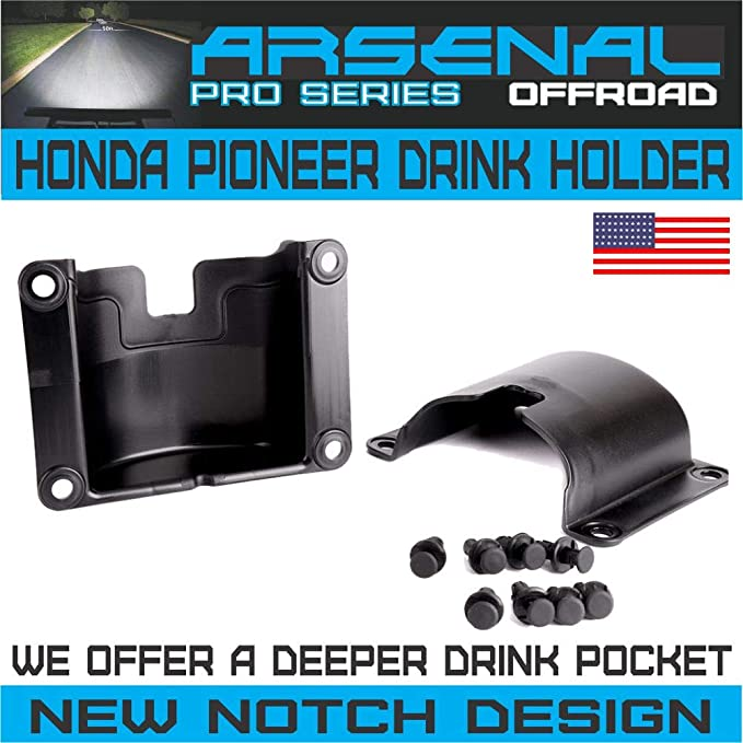 A/&UTV PRO Honda Pioneer Cup Holder More Sapce Door Mount Bottle Drink Holder Compatible with 2014-2020 Honda Pioneer 700-4 1000-5 Front and Rear Doors