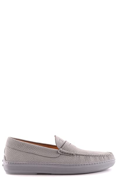 Men's MCBI293140O Grey Leather Loafers