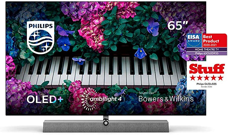 Philips Ambilight TV 65OLED935/12 OLED TV 65 Pulgadas con Sonido de Bowers & Wilkins (P5 Engine con IA, 4K UHD, Dolby Vision∙Atmos, Android TV, HDR ...