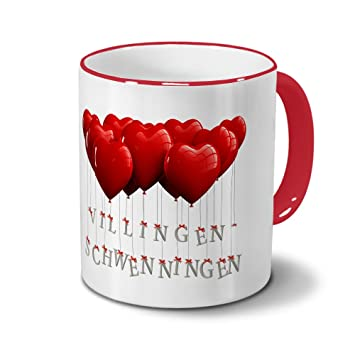 Städtetasse Villingen Schwenningen   Design Herzballons   Stadt Tasse,  City Mug