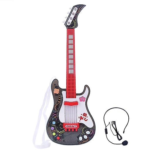 MRKE Guitarra Electrica Niños con Microfono Rock Juguete de Instrumentos Musicales para Infantil Niño y Niña 3-8 Años (1): Amazon.es: Juguetes y juegos