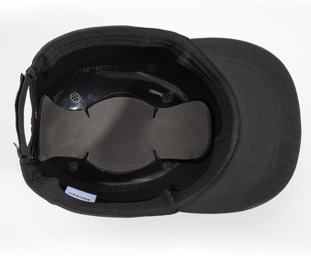 Negro Gorro de Seguridad con Rayas Reflectantes Ligero y Transpirable Gorro de protecci/ón para la Cabeza M18101-H Micro Brim Black