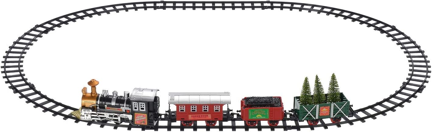 Holiday Time Battery Operated Train Set Only, Village Sold Separately