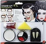 Smiffys Gothic Vampire Costume Fangs Teeth Fake Blood Makeup