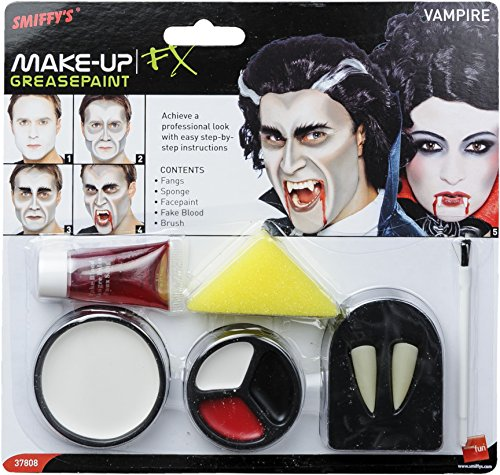 Smiffys Gothic Vampire Costume Fangs Teeth Fake Blood Makeup