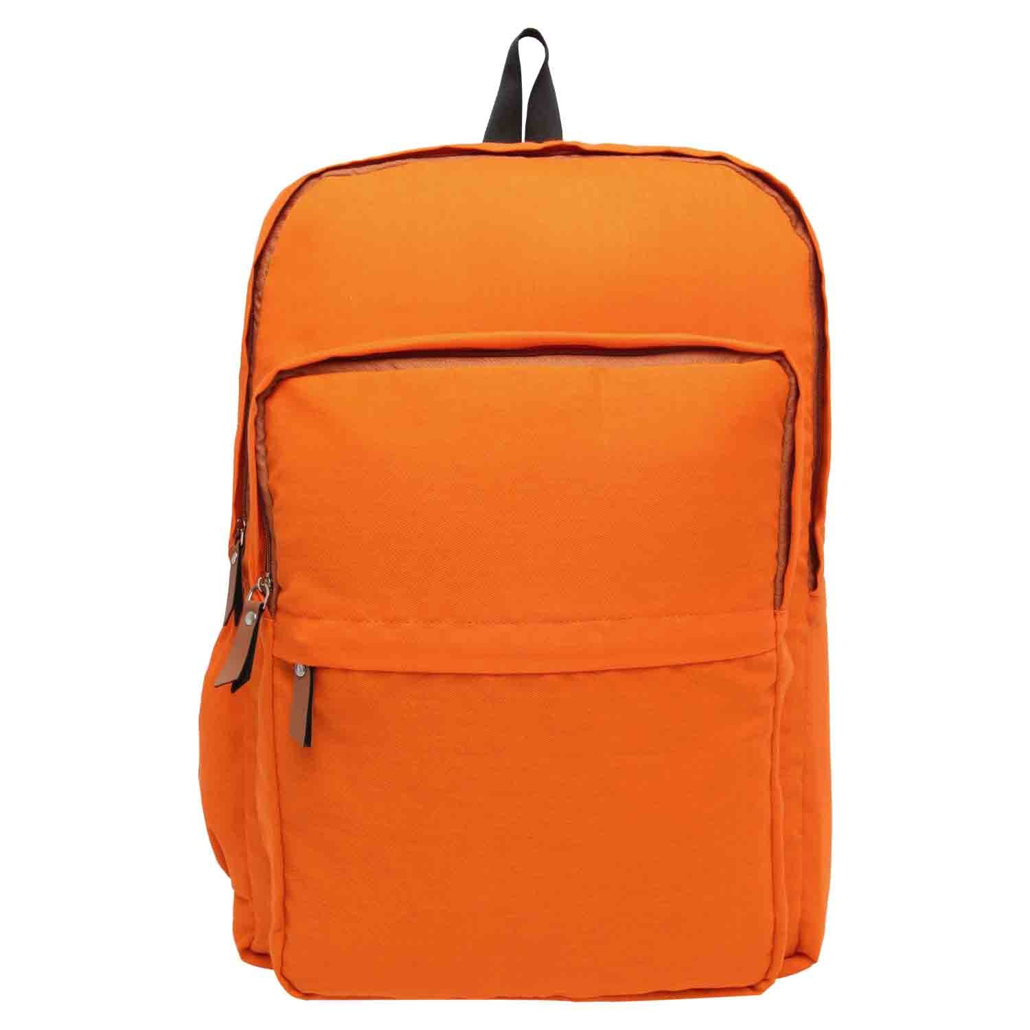Snoogg Casual Style Lightweight canvas Laptop Bag/Cute backpacks /School Backpack - Orange