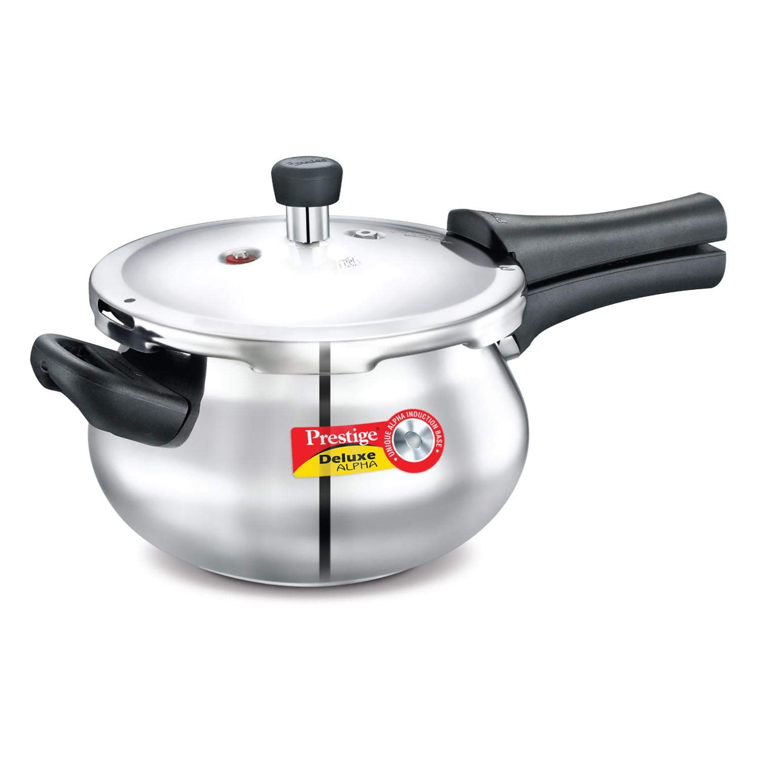 Prestige Deluxe Alpha Outer Lid Stainless Steel Pressure Cooker, 3.3 litres, Silver product image
