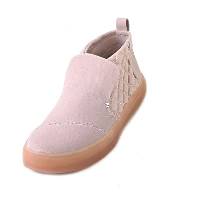 3a9f19543 TOMS Women s Paxton Water-Resistant Slip-Ons Dark Blush Textural  Canvas Quilted Nylon