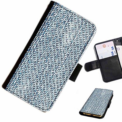 Hairyworm- Jean Apple Iphone 3G, 3Gs Leder Klapphülle Etui Handy Tasche, Deckel mit Kartenfächern, Geldscheinfach und Magnetverschluss.