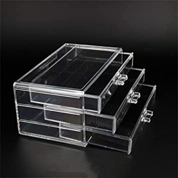 Lorenlli Cajón Organizador cosmético acrílico transparente Cajas ...