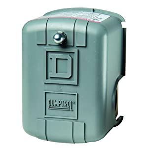 Square D by Schneider Electric FSG2J21CP 30-50 PSI Pumptrol Water Pressure Switch, Grey Cover